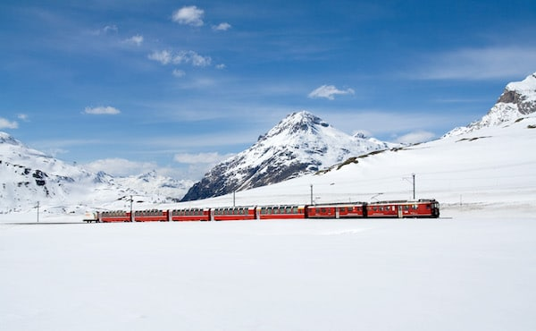 Pass InterRail, Berninabahn train mythique suisse