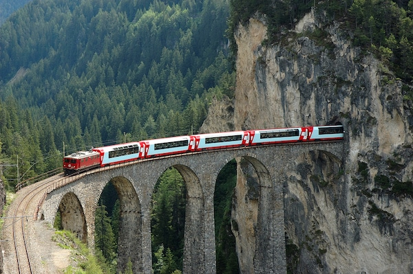 Pass InterRail, GlacierLandwasser train mythique suisse